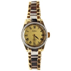 Eska Ladies Watch Yellow White Gold Diamonds