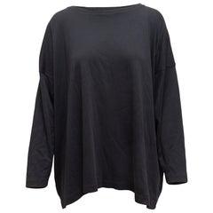 Eskandar Black Long Sleeve Top