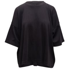 Eskandar Black Short Sleeve Top