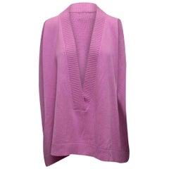 Eskandar Light Fuchsia Sweater Vest