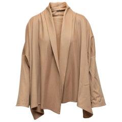 Eskandar Tan Cashmere Open Front Jacket