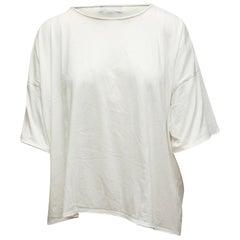 Eskandar White Short Sleeve Top