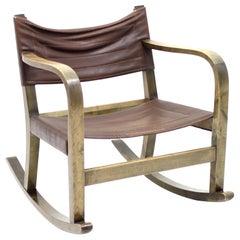 Eskil Sundahl Art Deco Rocking Chair for Bodafors, 1930s