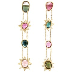 Esmeralda II Earrings Bi-Color Tourmalines