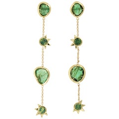 Esmeralda II Earrings Emeralds and Sapphire