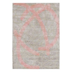 Esodo, Hand Knotted Rug Made in Silk and New Zealand Wool