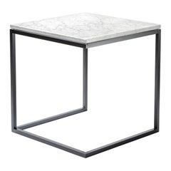 Esopo Black and White Side Table by Antonio Saporito