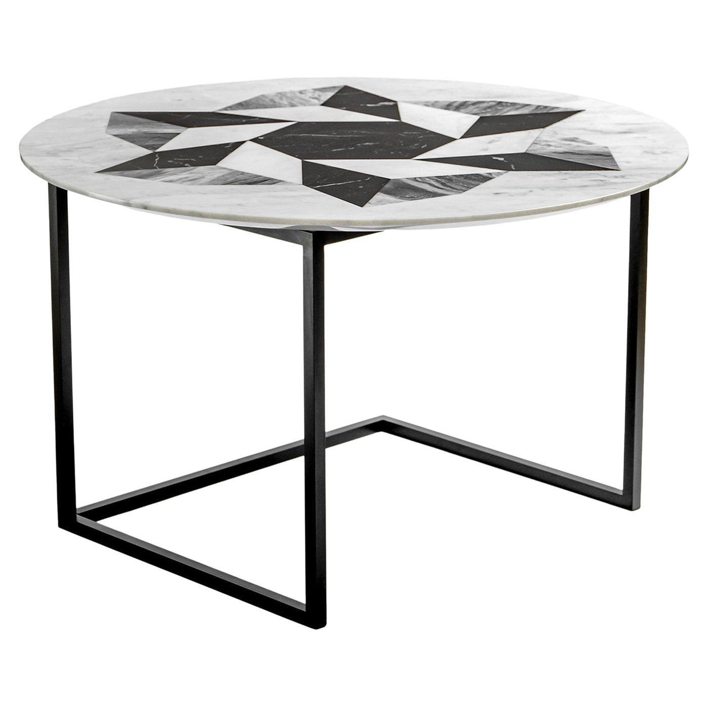 Esopo Coffee Table with Geometric Wheel by Antonio Saporito