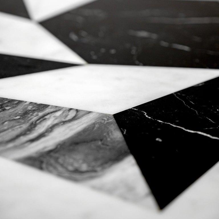Italian Esopo Cubic Coffee Table with Geometric Wheel by Antonio Saporito For Sale