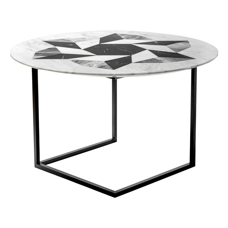 Esopo Cubic Coffee Table with Geometric Wheel by Antonio Saporito For Sale