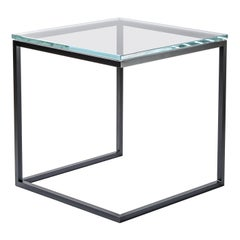 Esopo Cubic Side Table in Iron and Glass by Antonio Saporito