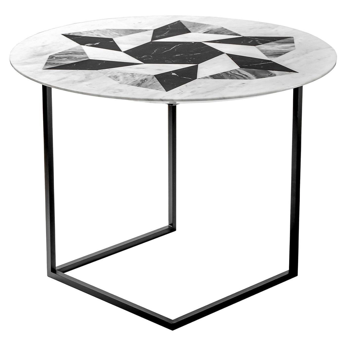 Esopo Side Table with Geometric Wheel by Antonio Saporito