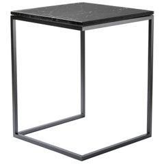Esopo Tall Black Side Table by Antonio Saporito