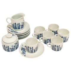 Espresso/Cappuccino Set of 6 Cups Sugar and Creamer by Richard Ginori