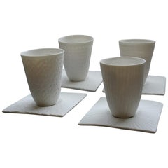 Espresso Cup Mixed / Set of 4 + Saucers