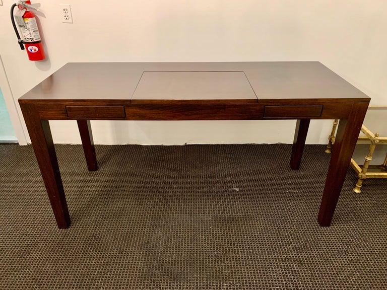 Espresso Finish Art Deco Style Vanity/ Writing Desk For Sale 3