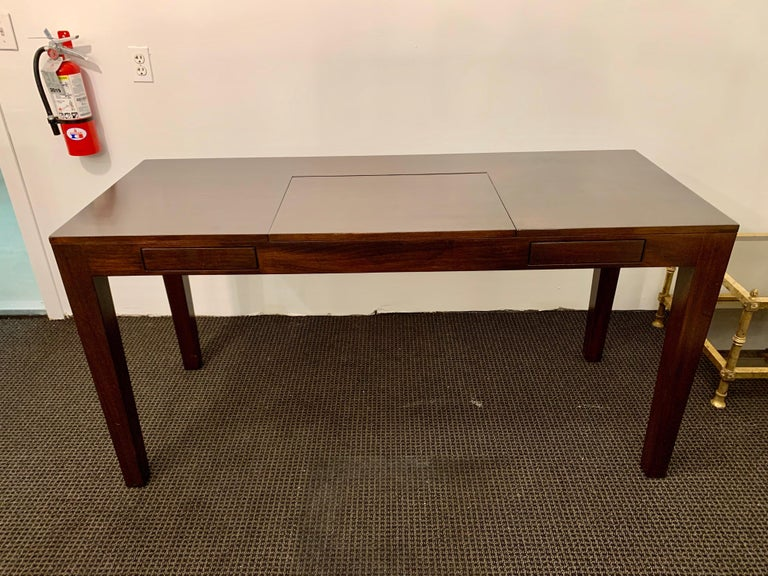 Ebonized Espresso Finish Art Deco Style Vanity/ Writing Desk For Sale