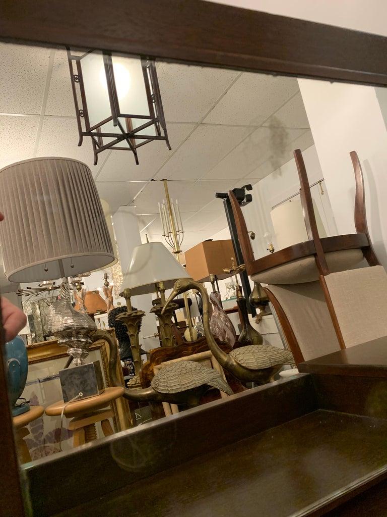 Late 20th Century Espresso Finish Art Deco Style Vanity/ Writing Desk For Sale