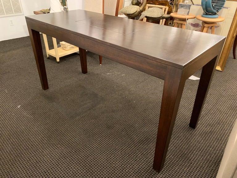 Espresso Finish Art Deco Style Vanity/ Writing Desk For Sale 1