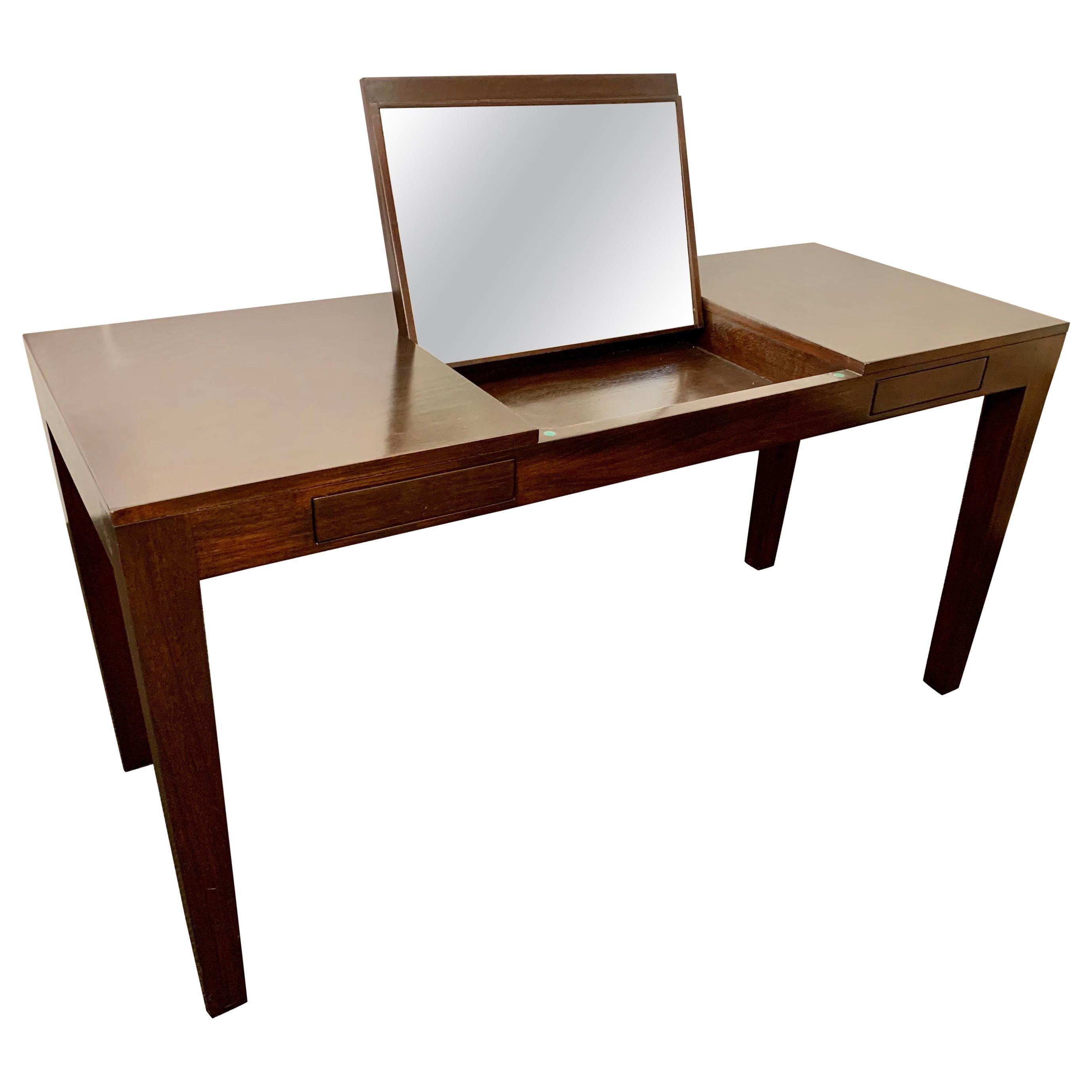 Espresso Finish Art Deco Style Vanity/ Writing Desk