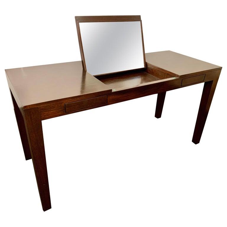Espresso Finish Art Deco Style Vanity/ Writing Desk For Sale