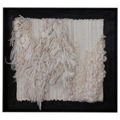 """ESQUISSE"" Wool/Linen Textile Wall Artwork by Perrine Rousseau"