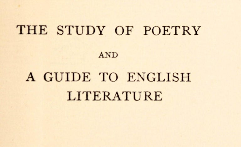 American Essays on the Study of Poetry & a Guide to English Literature by Matthew Arnold For Sale