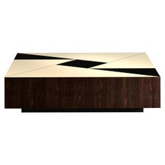 Essence Low Coffee Table Glossy Graphic Lacquered Wood