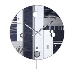 Essential Dark Clock by Arosio Milano