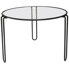 Essential Italian Coffee Table with Glass Top from 1970s by Paolo Piva