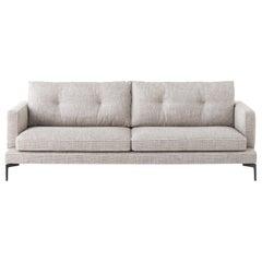 Essentiel Grey Sofa, Designed by Sergio Bicego, Made in Italy