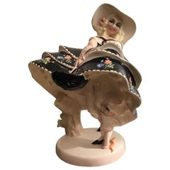 """ESSEVI Sandro Vacchetti """"Vento Di Primavera"""" Ceramic, 1940, Italy"""