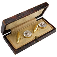 Cufflinks English Victorian Essex Crystal