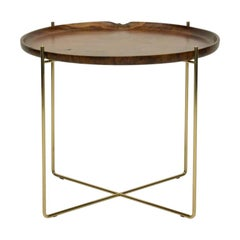 """Essex"" Wood and Metal Side Table"