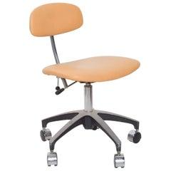 EST Saddle Leather Adjustable Office Task Desk Chair Saarinen Eames Era 1960s