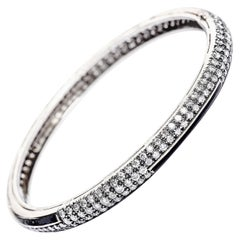 Art Deco Style Yin Yang Black Enamel Diamond Bracelet in 18 Karat Gold