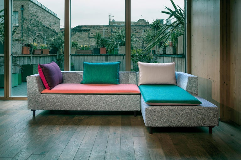 Konstantin Grcic has created a compact, geometric divan with a purity of form and a big personality that offers a modern, Minimalist update on the traditional chaise. The compact design fills a space between a sofa and a daybed, a gap where there