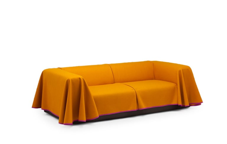Modern Established & Sons Cape Sofa in Magenta by Konstantin Grcic For Sale
