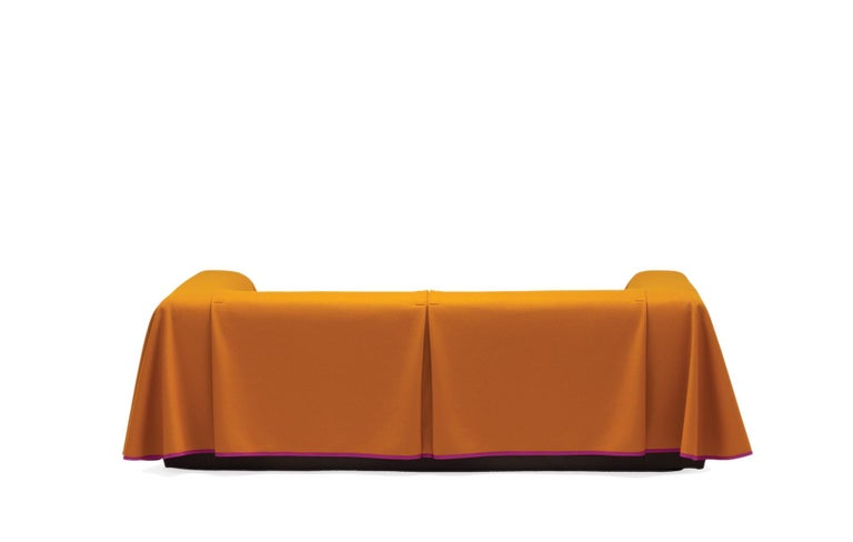 Established & Sons Cape Sofa in Magenta by Konstantin Grcic In New Condition For Sale In London, GB