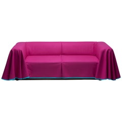 Established & Sons Cape Sofa in Magenta by Konstantin Grcic