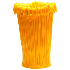 Established & Sons Frillo Vase with Handcrafted Yellow Piping, Alessandro Ciffo