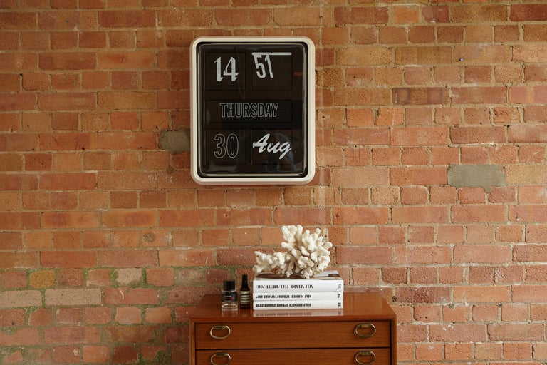 Contemporary Established & Sons Large Font Clock by Sebastian Wrong For Sale