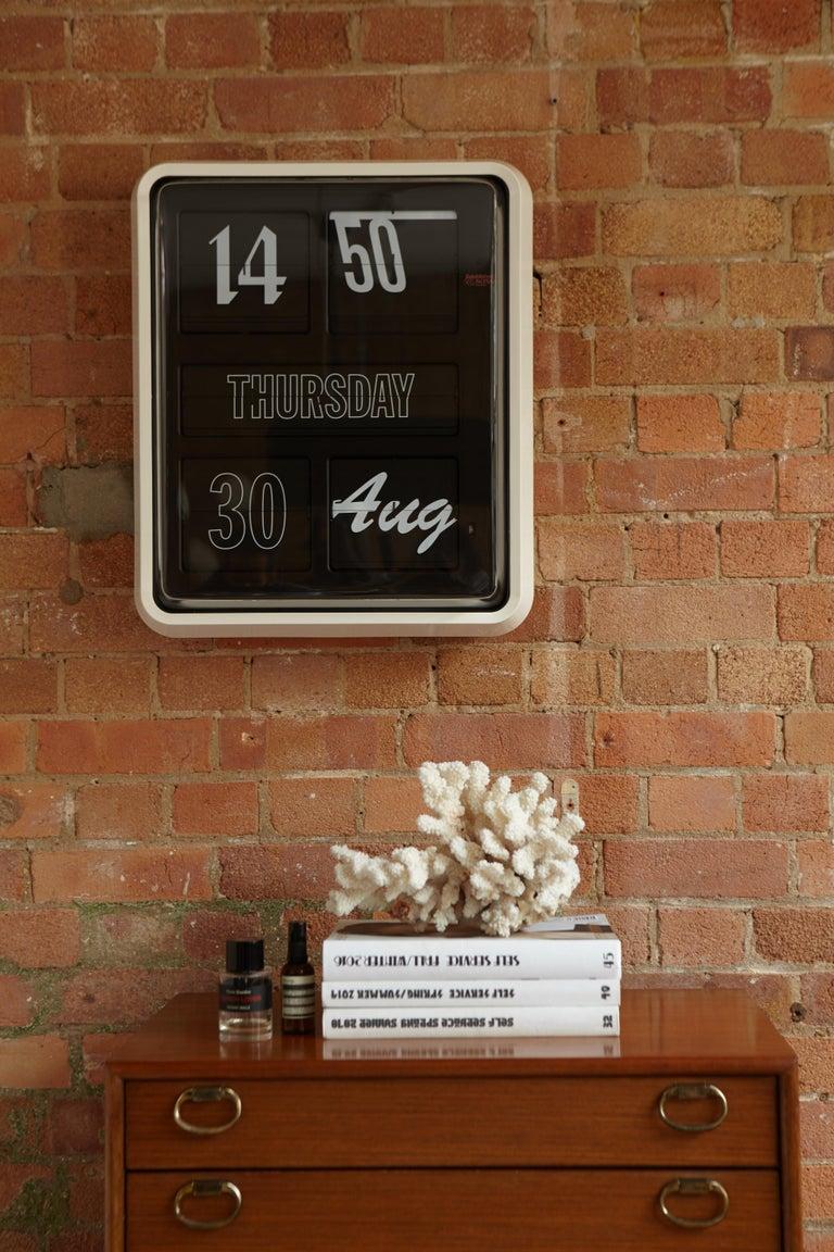 Plastic Established & Sons Large Font Clock by Sebastian Wrong For Sale
