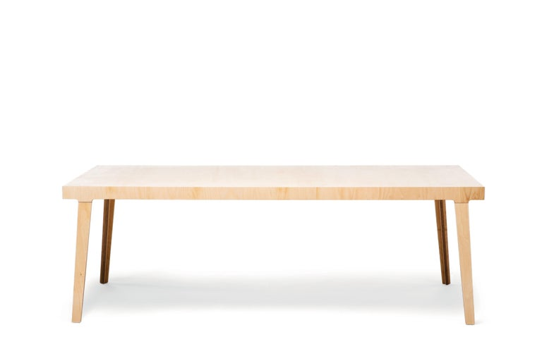 Strong, easily assembled and instantly usable the M5 Table finds its stability in an engineered form more commonly employed in bridge building. Inspiration struck designers matte Edmonds and Pam West as they passed under a bridge on the M5 motorway.