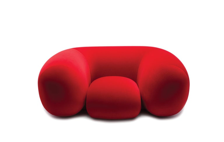 Modern Established & Sons Mollo Armchair in Red by Philippe Malouin For Sale
