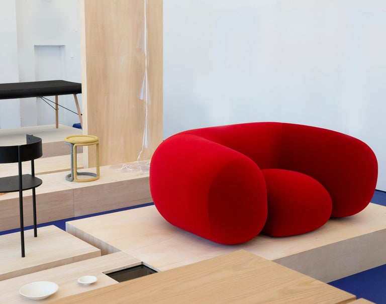 Foam Established & Sons Mollo Armchair in Red by Philippe Malouin For Sale
