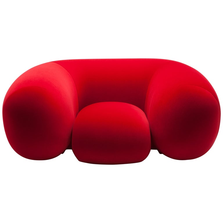Established & Sons Mollo Armchair in Red by Philippe Malouin For Sale