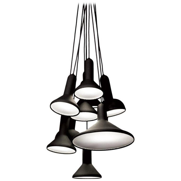 For Sale: Black (1712) Established & Sons S10 Bunch Torch Pendant Light by Sylvain Willenz