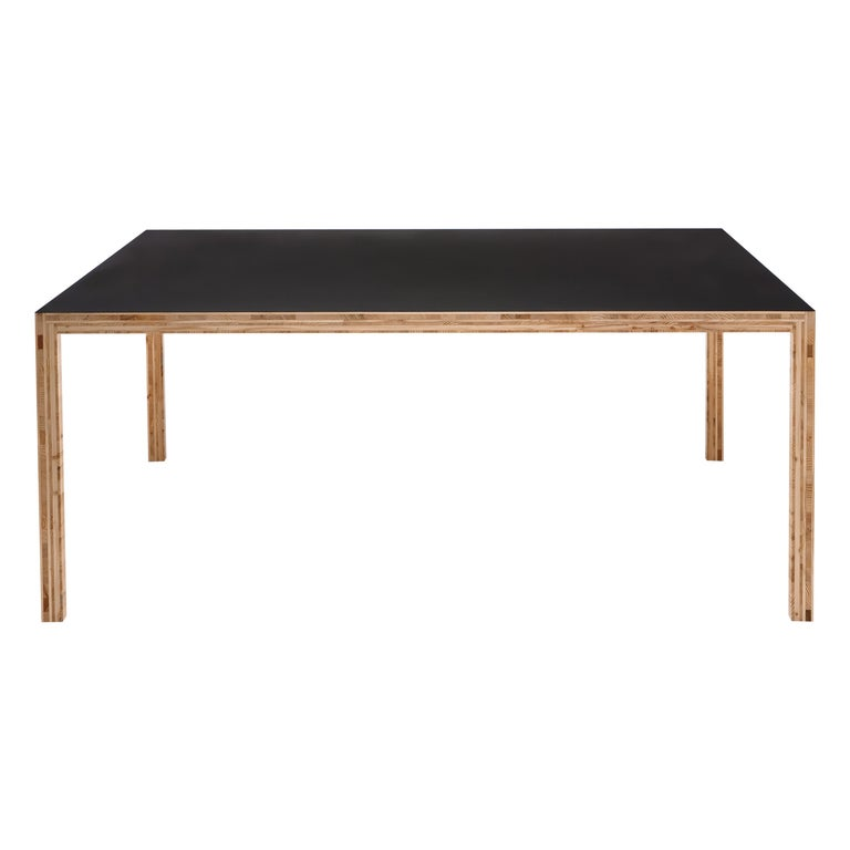 For Sale: Black (0650) Established & Sons Table in Plywood by Caruso St John