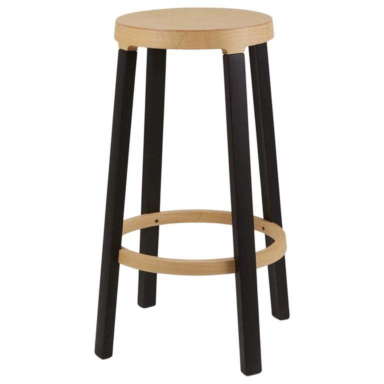 For Sale: Black (5160) Established & Sons Tall Step Stool in Wood by Federico Gregorutti